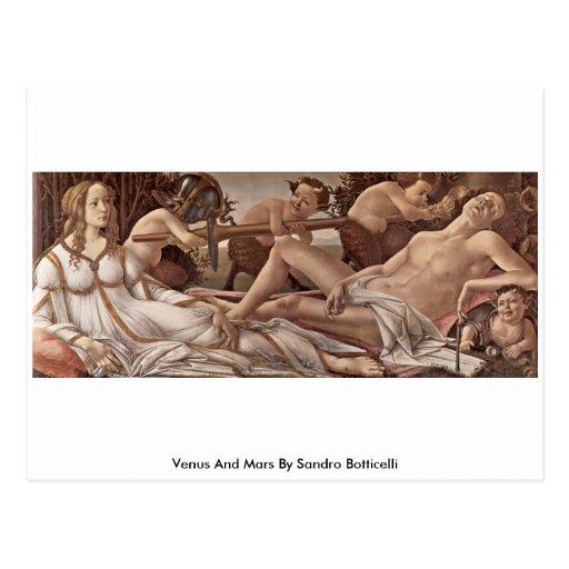 Venus y Marte de Sandro Botticelli Postal
