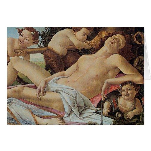 Venus y Marte de Sandro Botticelli Tarjeta De Felicitación