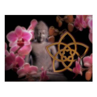 VENUSBLUME mit Buddha Orchidee Postkarten