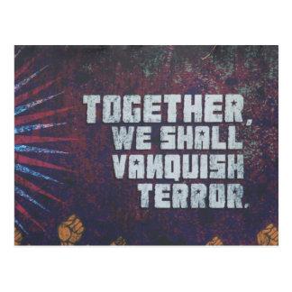 venza el terror tarjetas postales