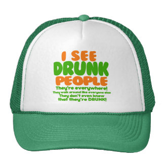 Veo a gente borracha gorro de camionero