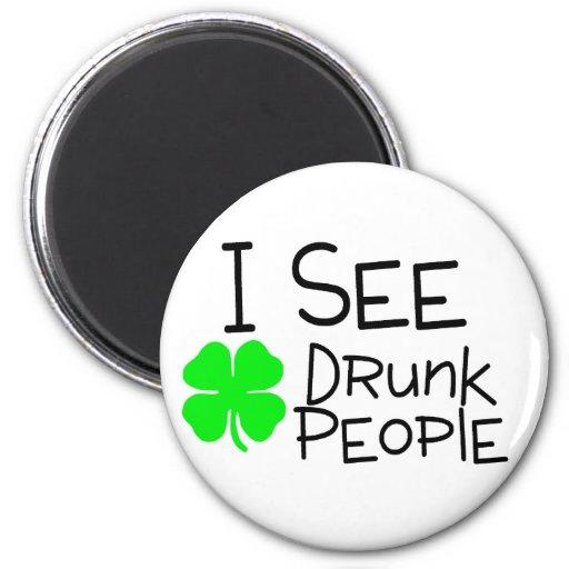 Veo a gente borracha iman para frigorífico