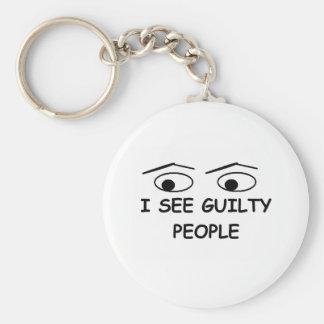 Veo a gente culpable llaveros personalizados