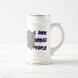 Veo a gente del pan jarra de cerveza