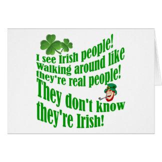 ¡Veo a gente irlandesa! Tarjeta De Felicitación