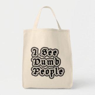 Veo a gente muda bolsa tela para la compra