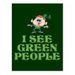 Veo a gente verde