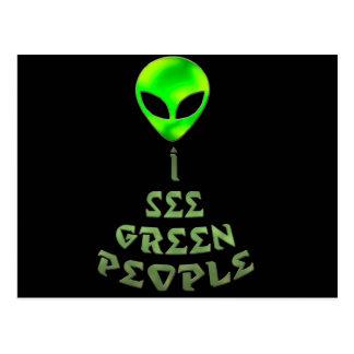 Veo a gente verde postal