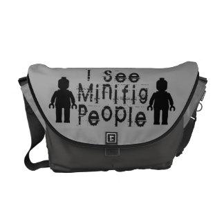 """""""Veo a la gente de Minifig"""" cerca modificar mi Min Bolsas De Mensajería"""