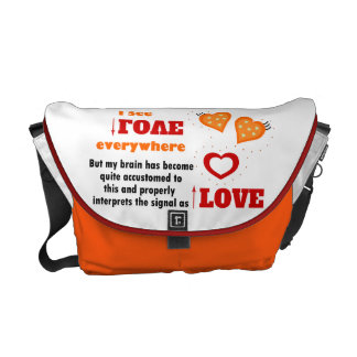 Veo amor por todas partes bolsa de mensajeria