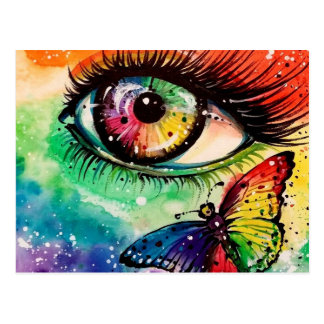 Veo el arco iris tarjeta postal