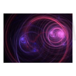 Veo el fractal de radio tarjeta de felicitación