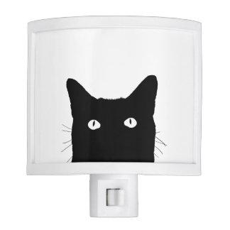 Veo el gato hacer clic para escoger su fondo del luces de noche