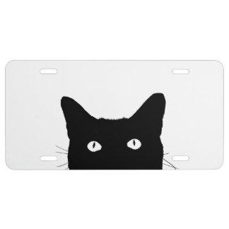 Veo el gato hacer clic para escoger su fondo del placa de matrícula