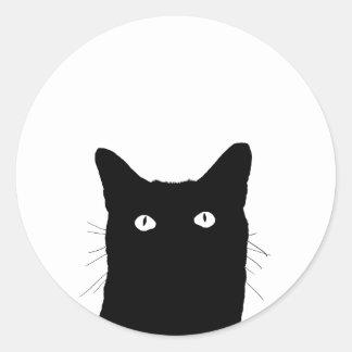 Veo el gato hacer clic para seleccionar su opción pegatina redonda