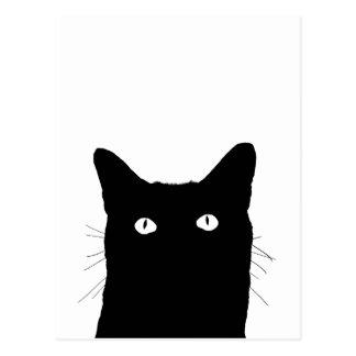 Veo el gato hacer clic para seleccionar su tarjeta postal