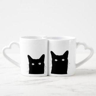 Veo el gato hacer clic para seleccionar un color taza para parejas