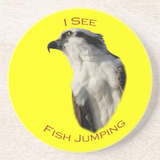 Veo el salto de los pescados posavasos manualidades