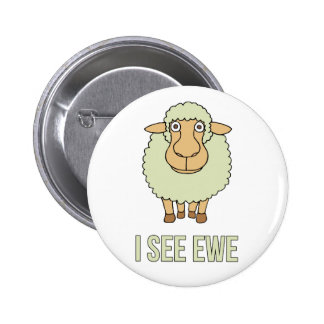 Veo la oveja pin redondo 5 cm