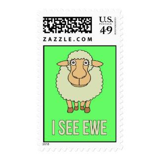 Veo la oveja sello postal