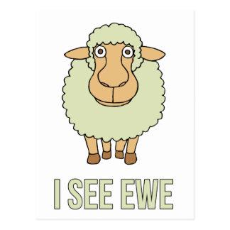 Veo la oveja tarjeta postal