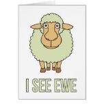 Veo la oveja tarjetas