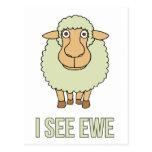 Veo la oveja tarjetas postales