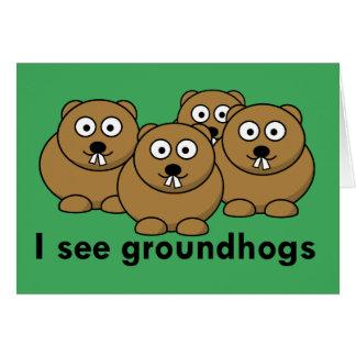 Veo la tarjeta de los groundhogs