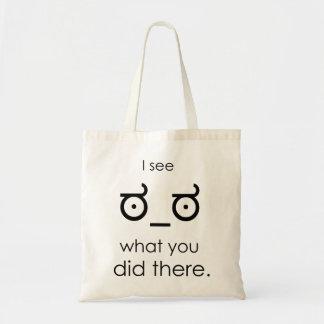 Veo lo que usted lo hizo allí bolsas