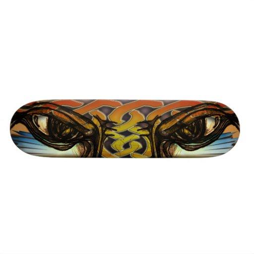 Veo los ojos del usted-tigre - monopatín monopatin personalizado