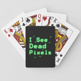 Veo los pixeles muertos cartas de póquer