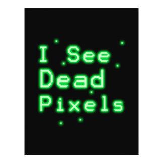 """Veo los pixeles muertos folleto 8.5"""" x 11"""""""