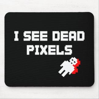 Veo los pixeles muertos oscuros mousepad
