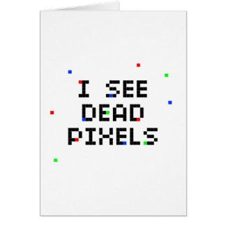 Veo los pixeles muertos tarjeta pequeña