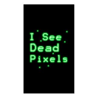 Veo los pixeles muertos tarjeta de visita