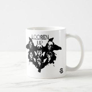 Veo para aflojar para arriba la taza de café