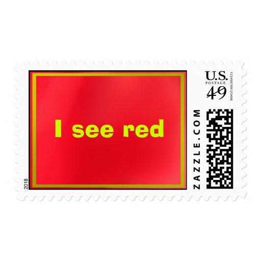 Veo rojo sellos