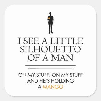 Veo un pequeño Shillouetto… Pegatina Cuadrada