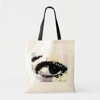¡Veo Ya! Ojo hermoso en bolso abstracto del regalo Bolsa Tela Barata