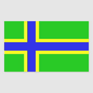 vepsia ethnic flag baltic scandinavia rectangular sticker