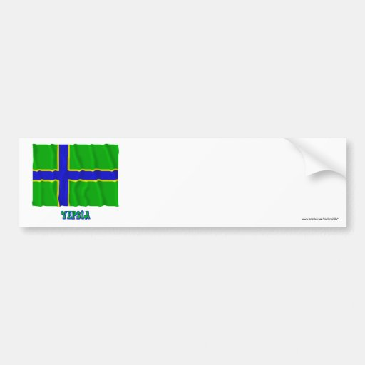 Vepsia waving flag with name bumper stickers