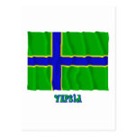 Vepsia waving flag with name post card