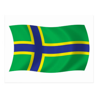 Vepsians Flag Postcard
