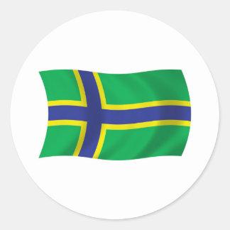 Vepsians Flag Sticker