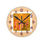 ver 2013. Símbolos curativos de REIKI Reloj De Pared