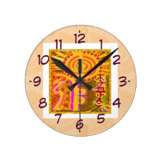 ver 2013 Símbolos curativos de REIKI Reloj De Pared