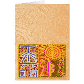 ver 2013 Símbolos PRINCIPALES curativos de REIKI Tarjetón