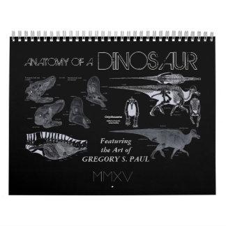 Ver 2015 de Gregory Paul del calendario del dinosa
