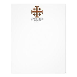 Ver 2 - Cruz de Jerusalén - opus Dei - parte poste Membrete A Diseño