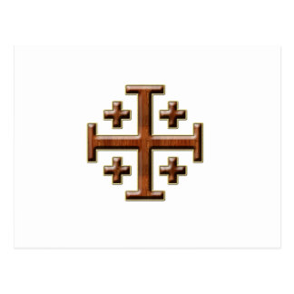 Ver 2 – Jerusalem Cross - Clear Back Postcard